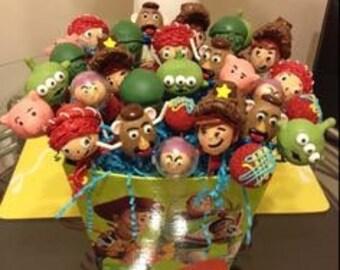 One dozen toy story cake pops