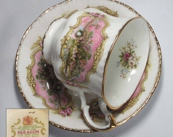 Free Shipping Paragon CHIPPENDALE C Bone China Tea Cup and Saucer - Made in England