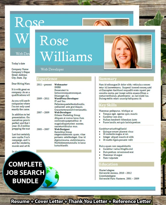 resume template    cv template bold header by businesstemplates