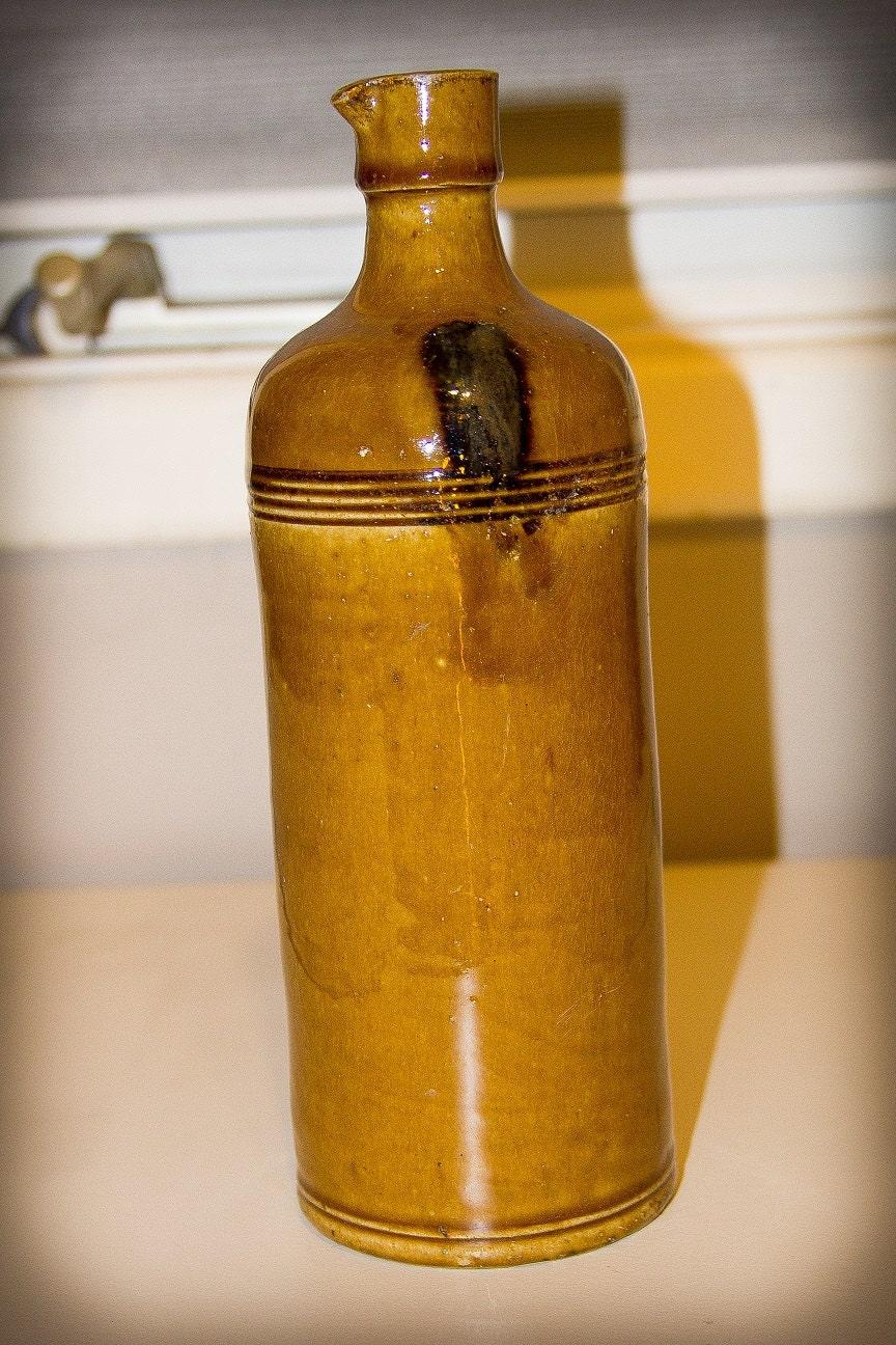 Antique 1870s French Master Stoneware Ink Bottle By Antiquefindz