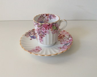 Spode Chelsea Garden Demi tasse cup and saucer.