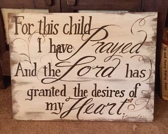 Custom 1Samuel 1:27