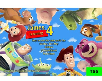 Toy Story Invitation - Digital Personalized Invite - Toy Story Party Invite