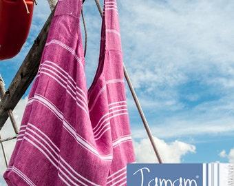 Bag large stripped shoulder tote crossbody washable handmade sling