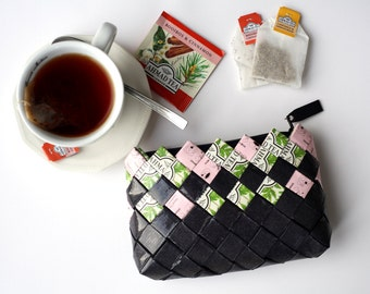 Candy Wrapper Bag, handmade clutch bag, recycled bag, coin purse