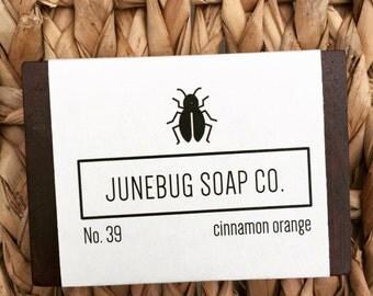 3 PACK: Orange & Cinnamon Bar Soap - Natural Soap, Orange Soap, Cinnamon Soap, Handmade Soap, Bar Soap, Homemade Soap, Sulfate Free