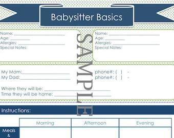 Babysitter Basics for 2 Kids!