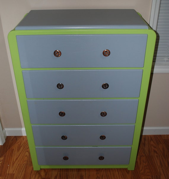 Adorable Redone Retro 5 Drawer Dresser Edison By Jaloeclectic