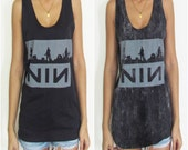 Unisex Nine Inch Nails Vest Tank-Top Singlet T-Shirt Dress Womens Mens Retro Sizes S M L XL