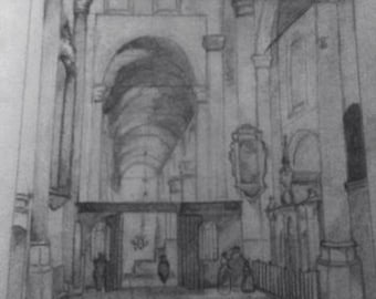 Cathedral drawing