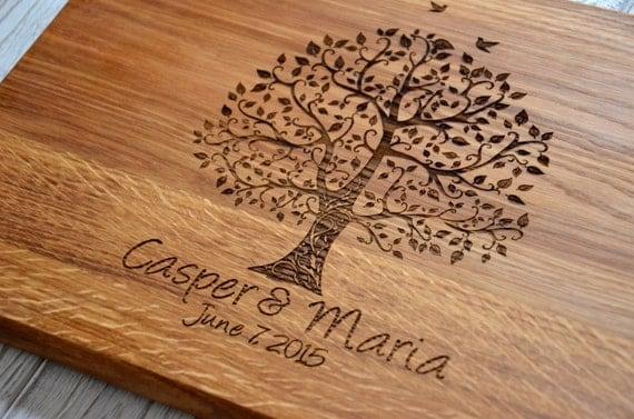 Sentimental Wedding Gift For Sister : Love Romantic Valentines Gift Cutting Board Wedding Custom 5th Year ...