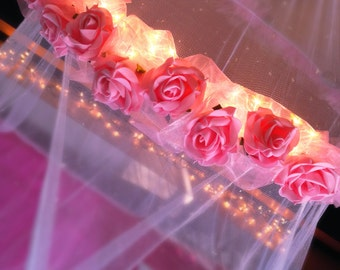 Glow in the Dark Canopy Pink Roses
