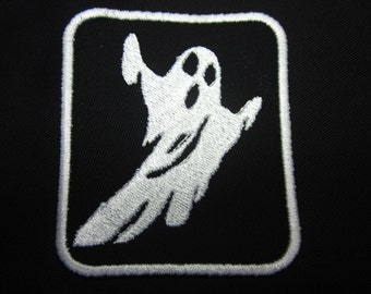 White ghost Iron on Patch