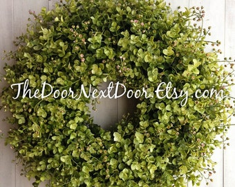 Eucalyptus Wreath - Summer Wreaths - Front Door Wreath - Fall Wreath - Entry Decor - Year Round Wreath