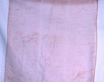 Vintage Pink Silk Handkerchief