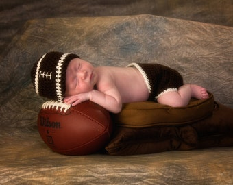 Football Hat, Diaper Cover, Football Beanie, Baby Boy Hat, Baby Boy Beanie, Crochet Baby Hat, Newborn Photo Prop, Baby Newborn Hat, Baby Boy