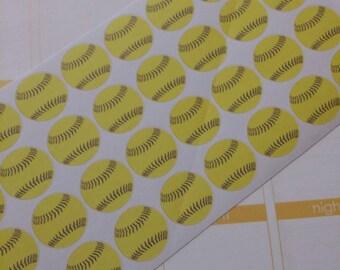 Softball Stickers! Perfect for your Erin Condren Life Planner, calendar, Paper Plum, Filofax!