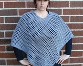 Chic Lattice Crochet Poncho Pattern   Crocheted Wrap   Beginner Crochet   Women's Fashion   Modern   PDF Download