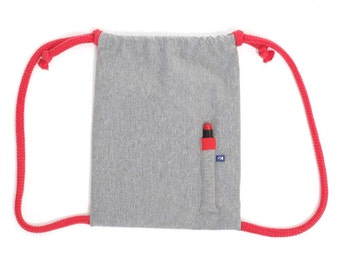 Píntame! gym bags - backpack for painting in gray-red