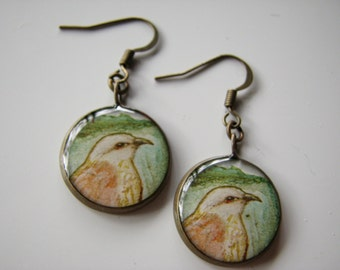 Native Hawaiian Hawk, I'o; Earrings