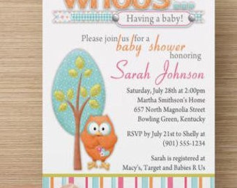 What a Hoot Baby Shower Invitation