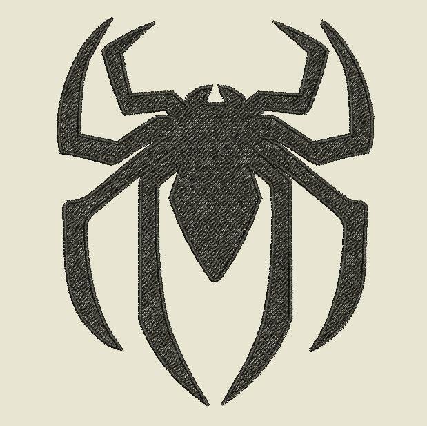 Snap Spiderman Symbol Spider Machine Embroidery Design Super By