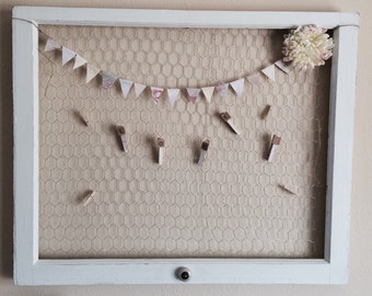 Custom Made Chicken Wire Frame Repurposed Windows