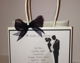Beautiful Hand Finished Father of the Bride Wedding Favour Gift Bag