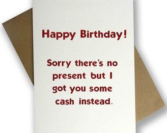 Monopoly Money Birthday Card
