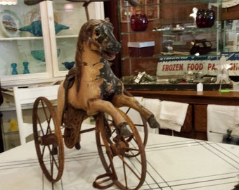 Antique Hobby Horse Tricycle