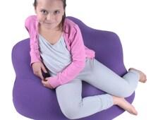 Bean Bag Bags Chair Beanbag Beanbags Flower Shape Children Teens Adults Fabric Designer Blue Red Purple Gray Family Living Room Dorm Decor