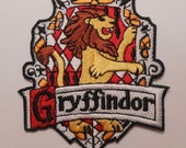 Harry Potter Gryffindor Iron On Embroidered Patch