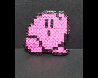 Perler beads Kirby figure