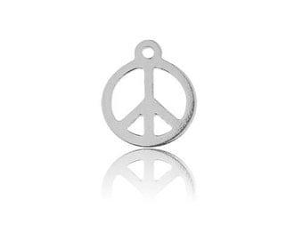 Oval Charm PEACE Silver 925