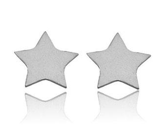 Earrings Star Sterling Silver 925