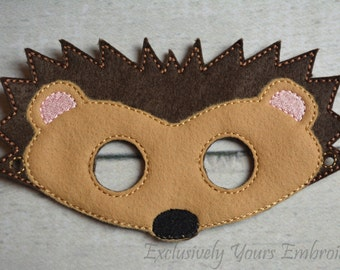 Hedgehog Children's Mask  - Costume - Theater - Dress Up - Halloween - Face Mask - Pretend Play - Party Favor