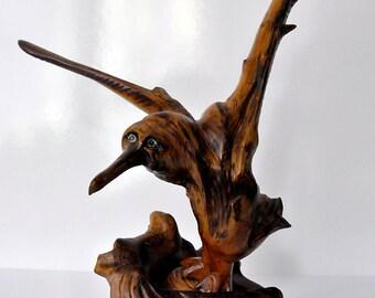 Storm bird - one of a kind wooden sculpture!