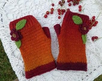 Mittens fingerless, Gloves fingerless, Knitted mittens, Warm knit gloves, Knit arm warmers, Half finger mitts, Arm warmer mittens