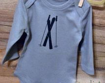 Ski Theme Baby Clothes Organic