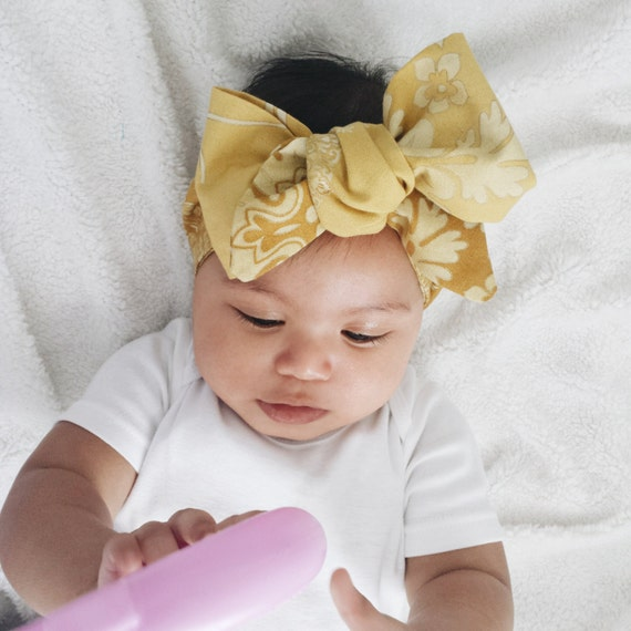 Big Bow Baby Headwrap Baby Head Scarf By