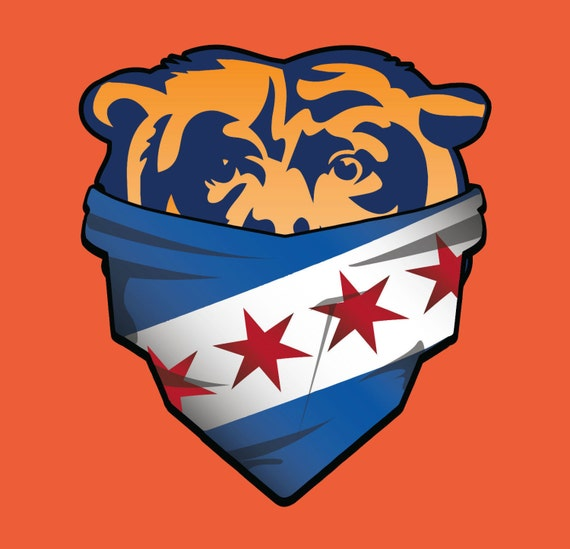 Chicago Bears City Of Chicago Bandana City Flag