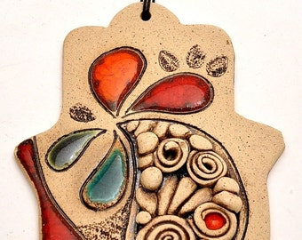 Hamsa Hand With Four leaves For Energy Luck & Success