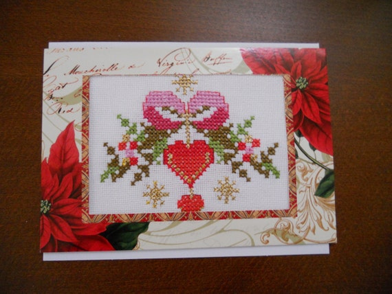 how to make cross stitch greeting cards
