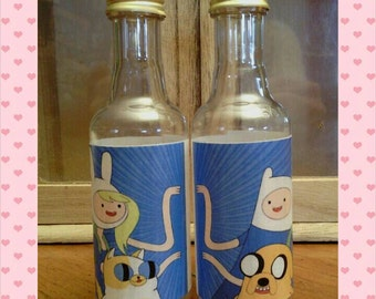 Salt and Pepper shakers - Adventure Time Finn & Fiona