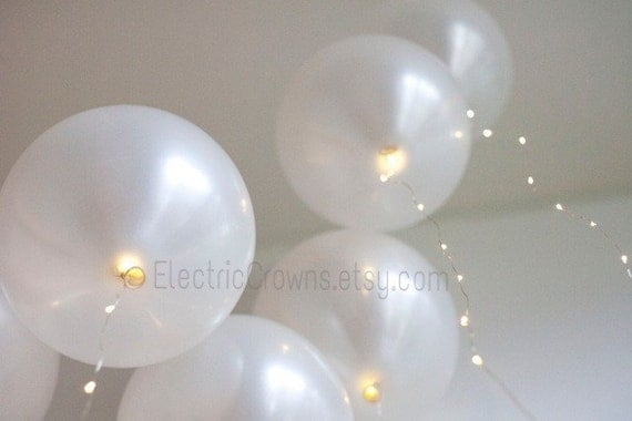 2 Fairy Lights for Helium Balloons. Led lights by ElectricCrowns