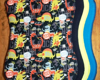 Burp Cloth, Rockin' Dinosaurs