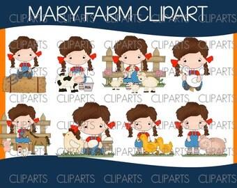 Mary farm clipart