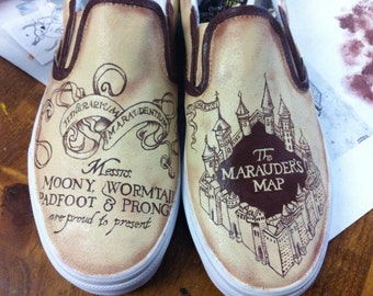 Murauder's Map Hand-Painted Shoes