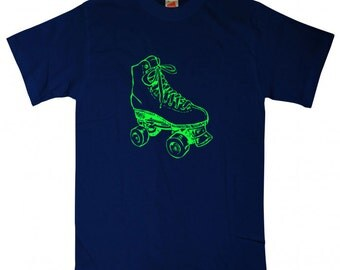 Roller Derby Shirt Womens Roller Skate Shirt  Active shirts for the gym Printed Tee