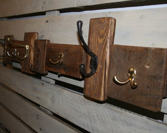 Rustic and Up cycled Coat rack